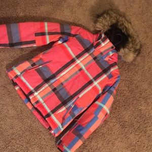 A kids size 10 (medium) roxy ski jacket